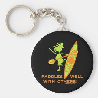 Kayak Shirt, Kayak Gift, Bumper Sticker and more! Basic Round Button Keychain