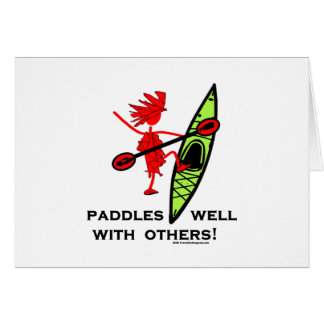 Kayak Shirt, Kayak Gift, Bumper Sticker and more! Card