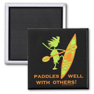 Kayak Shirt, Kayak Gift, Bumper Sticker and more! Magnet