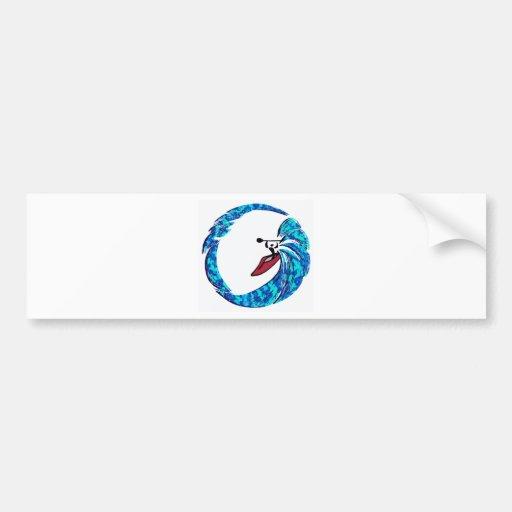 Kayak Side Surfing Bumper Sticker