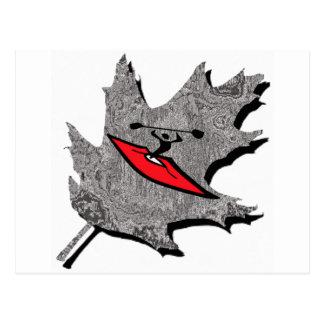 kayak silver dew postcard