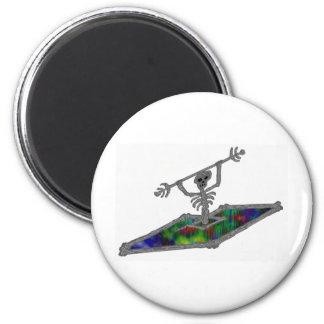 Kayak soul bones 2 inch round magnet