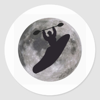 Kayak Soul Flakes Classic Round Sticker