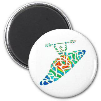 Kayak soul path 2 inch round magnet