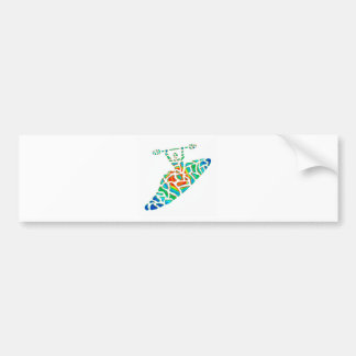 Kayak soul path bumper sticker