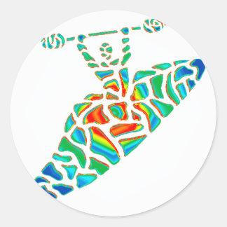 Kayak soul path classic round sticker