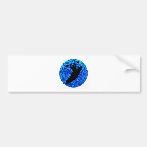 Kayak Soulful Flows Bumper Stickers