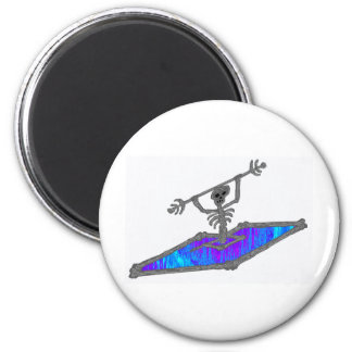 Kayak Soully Bones 2 Inch Round Magnet