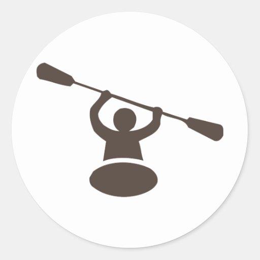 Kayak Round Sticker
