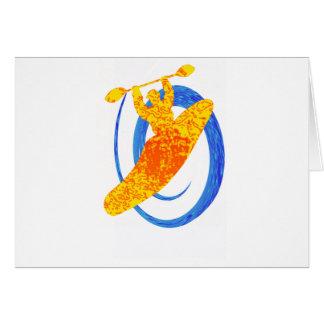 Kayak Sun seeker Greeting Card