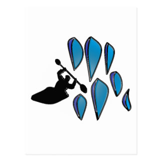 Kayak Surf Post Card
