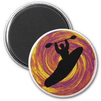Kayak Swirl Eddy 2 Inch Round Magnet