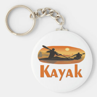 Kayak T-shirts and Gifts. Basic Round Button Keychain