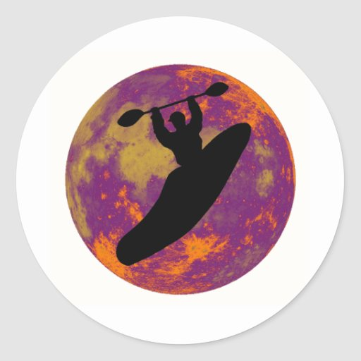 kayak the Earth Classic Round Sticker