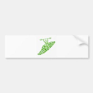 Kayak the Green Car Bumper Sticker