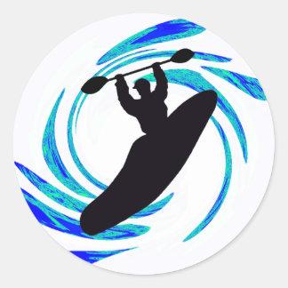 Kayak the Tagline Round Stickers