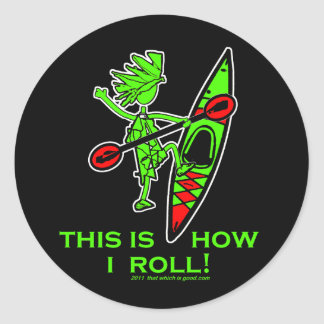 Kayak This Is How I Roll II Classic Round Sticker