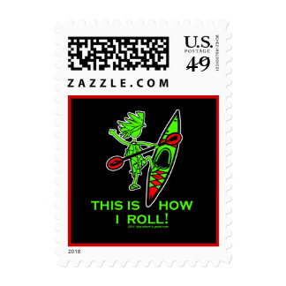 Kayak This Is How I Roll II Postage Stamps