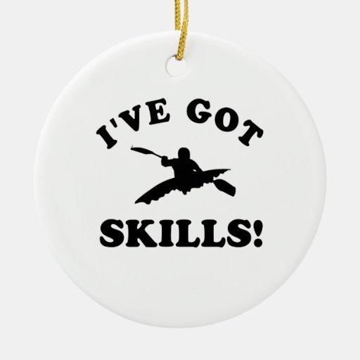 kayak vector designs christmas tree ornament