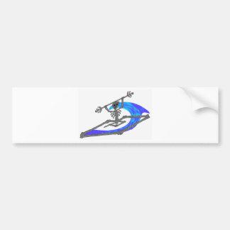 Kayak Wavey Bones Car Bumper Sticker