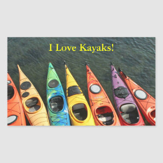 Kayak World Rectangular Sticker