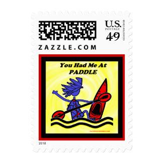 Kayak: You Had Me At Paddle Stamp