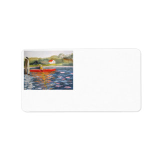 Kayaker address labels you personalize