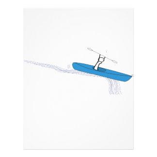 Kayaker Birthday Flyer