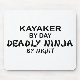 Kayaker Deadly Ninja by Night Mouse Pad
