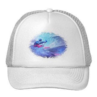 Kayaker del agua blanca gorras