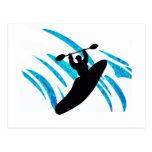 Kayaker del kajak Kayaking Postal