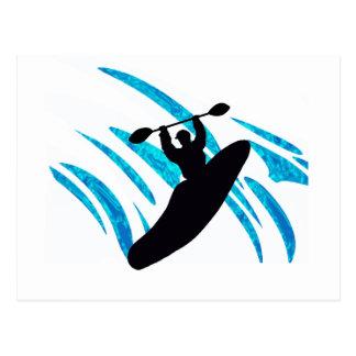 Kayaker del kajak Kayaking Tarjeta Postal
