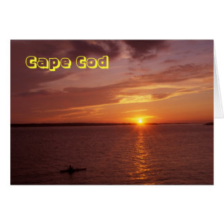 Kayaker del océano de Cape Cod Tarjeta De Felicitación