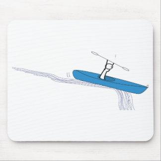 Kayaker en el agua Mousepad Alfombrillas De Ratones