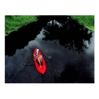 Kayaker en el río de Loxahatchee Postal