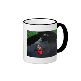 Kayaker en el río de Loxahatchee Taza De Café