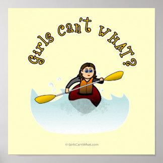 Kayaker femenino ligero póster
