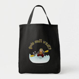 Kayaker femenino rubio bolsas