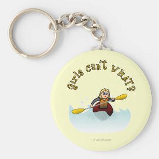 Kayaker femenino rubio llavero
