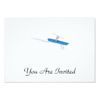 "Kayaker 5"" X 7"" Invitation Card"