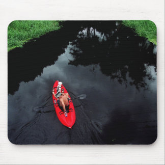 Kayaker on Loxahatchee River Mouse Pad