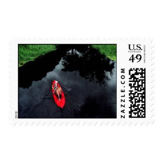Kayaker on Loxahatchee River postage stamp