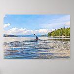 Kayaker on Serene Lake Poster