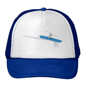 Kayaker on the water trucker hat