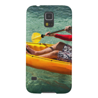 Kayaker paddling in clear water cases for galaxy s5
