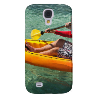 Kayaker paddling in clear water samsung galaxy s4 cover