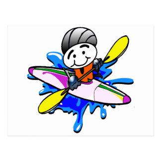 Kayaker Postcard