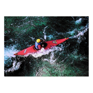 Kayaker Profile Card Large Business Cards (Pack Of 100)