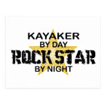 Kayaker Rock Star by Night Post Cards