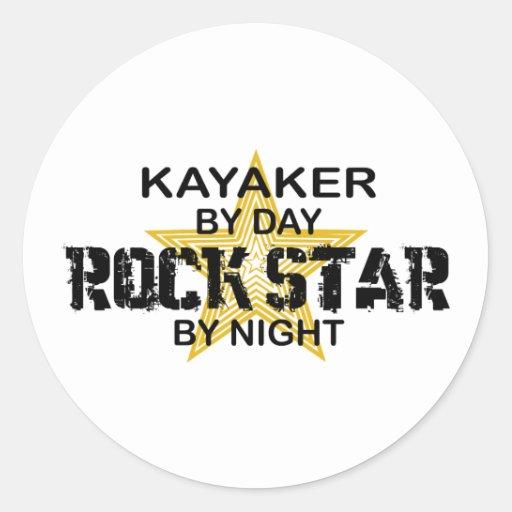 Kayaker Rock Star by Night Sticker